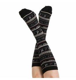 Alpaca PK 70% Alpaca Unisexe Dress Socks - Black