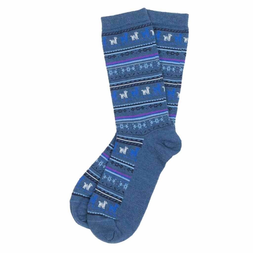 Alpaca PK 70% Alpaca Dress Socks - Denim