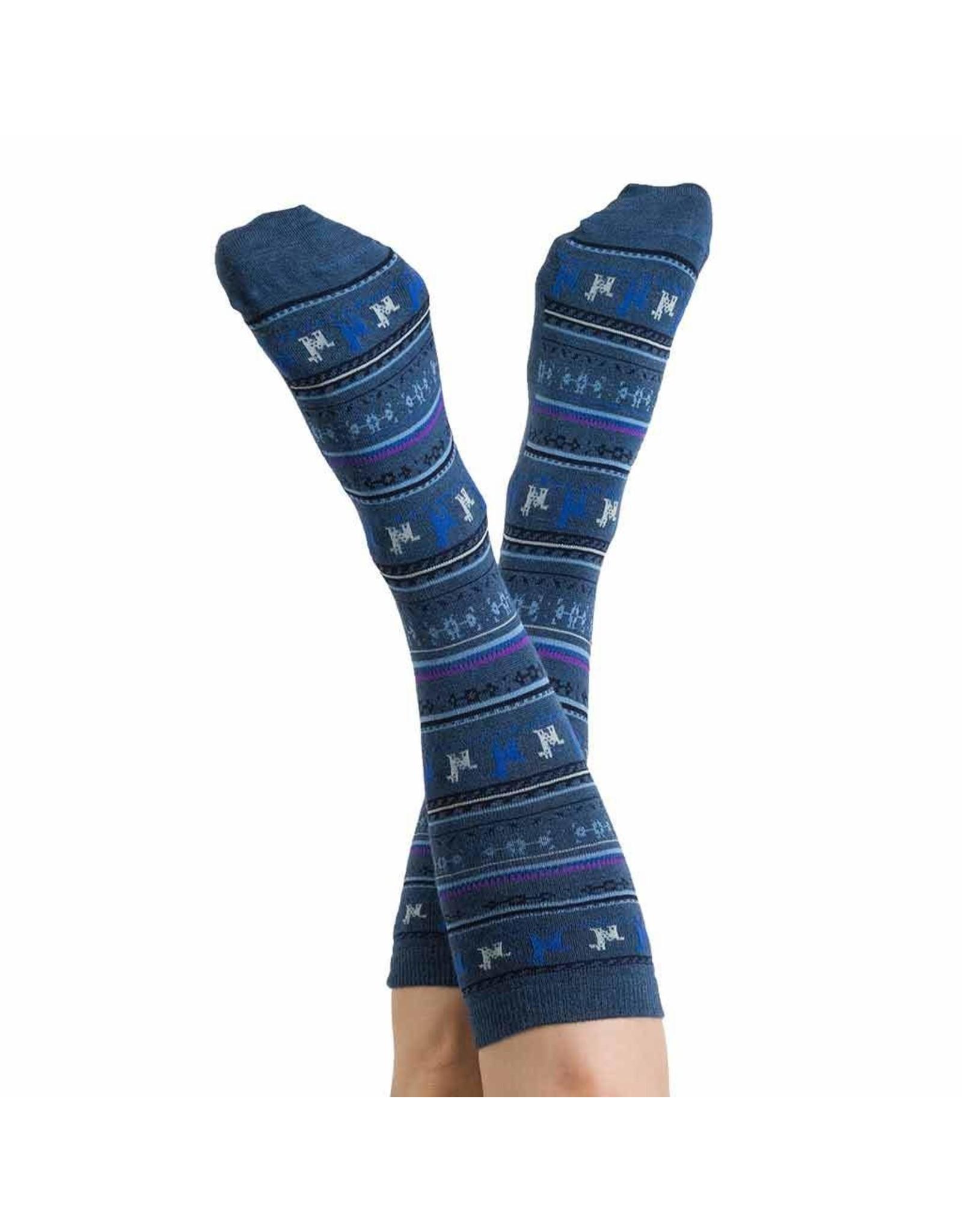Alpaca PK 70% Alpaca Dress Socks - Denim