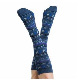 Alpaca PK 70% Alpaca Unisex Dress Socks - Denim