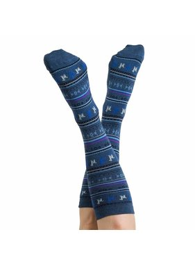 Alpaca PK 70% Alpaca Unisex Dress Socks - Denim