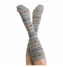 Alpaca PK 70% Alpaca Unisex Dress Socks - Grey