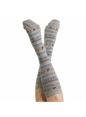Alpaca PK 70% Alpaca Unisex Dress Socks - Grey
