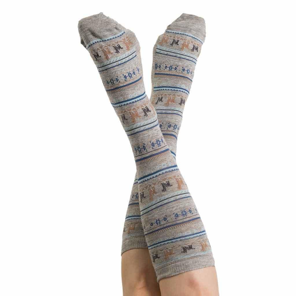 Alpaca PK 70% Alpaca Dress Socks - Grey