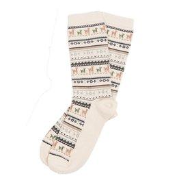 Alpaca PK 70% Alpaca Dress Socks - White
