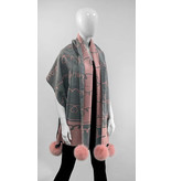 Mitchie's matchings Reversible Woven Scarf - LOVE