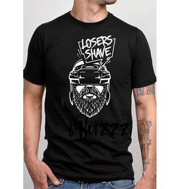 iBuzzz Funny T-shirt Losers Shave - Unisex