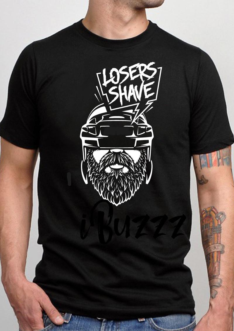 iBuzzz Cotton T-shirt Losers Shave