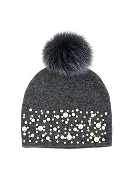 Mitchie's matchings GALAXIE HAT KNITTED FOX POM