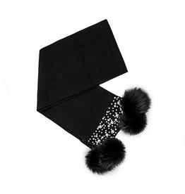 Mitchie's matchings 1 Foulard en tricot avec pompons de renard et perles