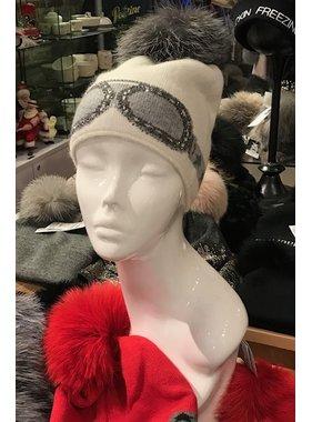 Mitchie's matchings Tuque style verre de Ski avec Pompon de renard - Choix de couleur