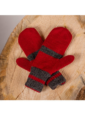 Alpaca DNA Double and reversible Canadien mittens 100% Alpaca wool