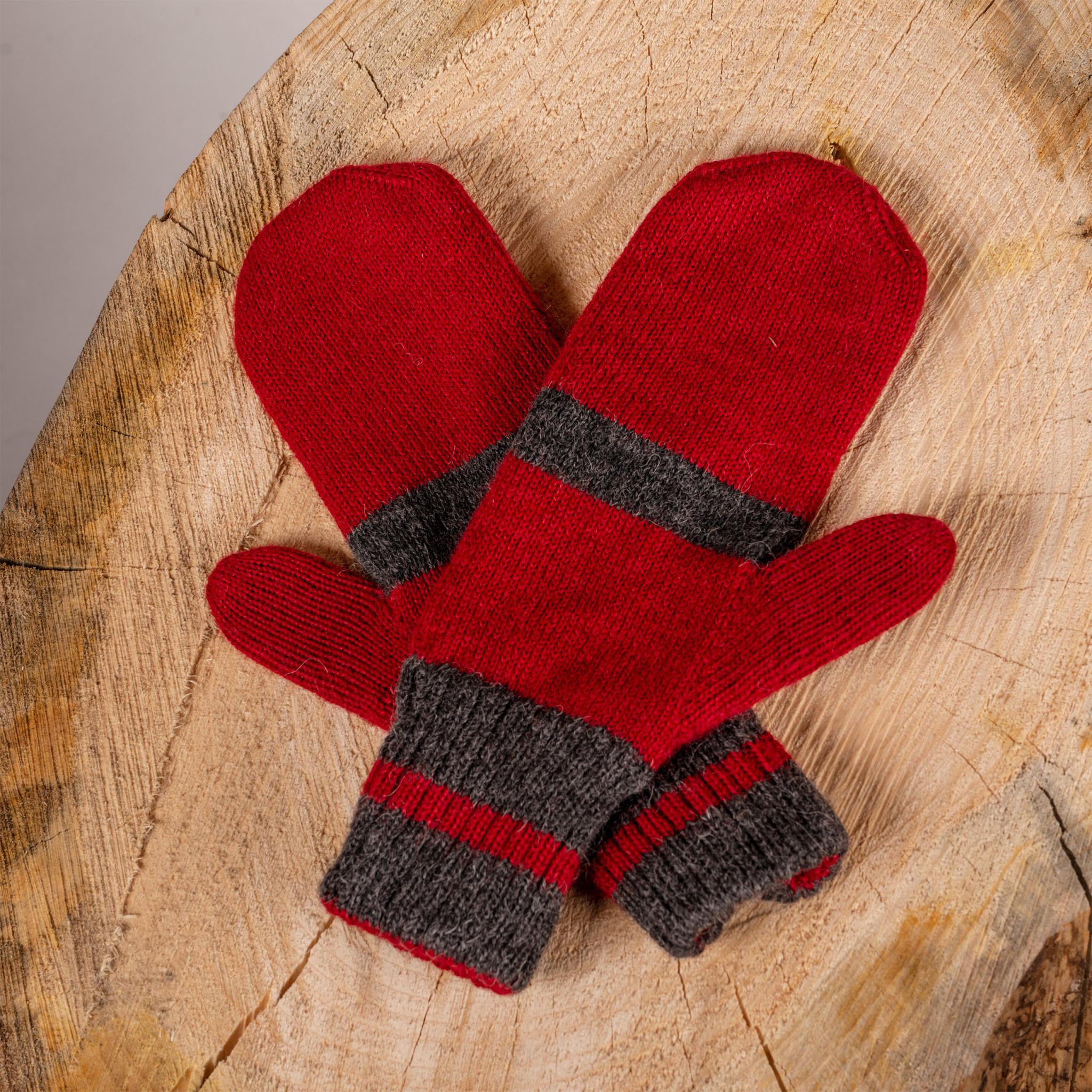 Alpaca DNA Double and reversible Canadien mittens 100% Alpaca wool