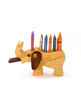 Alain Mailhot - Sculpteur Elephant - Wax crayons holder