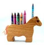 Alain Mailhot - Sculpteur Horse - Wax crayons holder