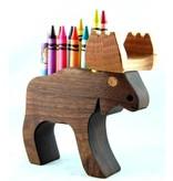Alain Mailhot - Sculpteur Moose - Wax crayons holder
