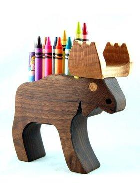 Alain Mailhot - Sculpteur Porte-crayons de cire - Orignal P.C.