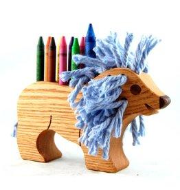Alain Mailhot - Sculpteur Porte-crayon de cire - Lion