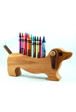 Alain Mailhot - Sculpteur Dog Dachshund - Wax crayons holder