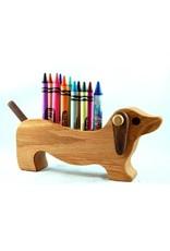Alain Mailhot - Sculpteur Porte-crayons de cire - Chien Teckel P.C