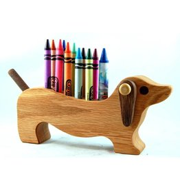 Alain Mailhot - Sculpteur Dog Dachshund - Wax crayons holder