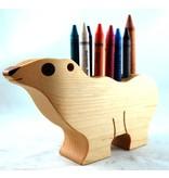 Alain Mailhot - Sculpteur Bear - Wax crayons holder