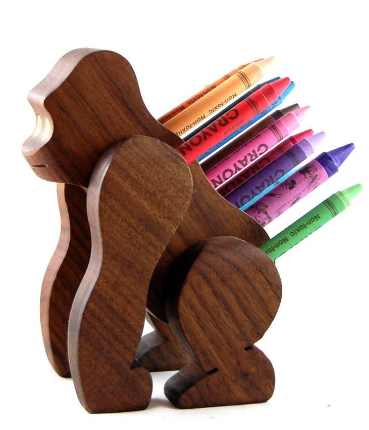 Alain Mailhot - Sculpteur Crayon holder - Gorilla