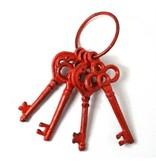 Cast iron red keys