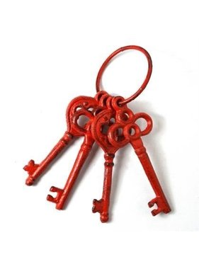 Cast iron red keys