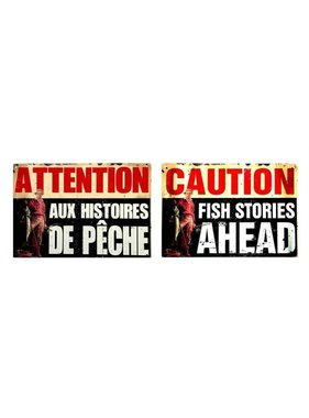 Fishing sign (Bilingual)