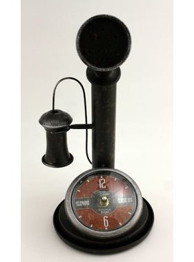 Vintage metal phone clock
