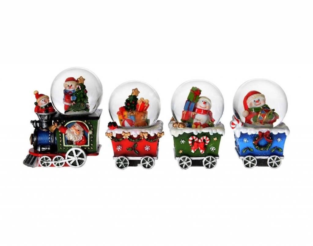 Boule d'eau Train de Noël