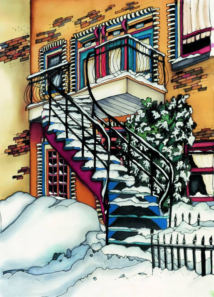 Renee Bovet Reproduction -  Under the snow, MTL 20x8