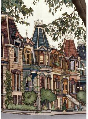 Renee Bovet Carré St-Louis Street, MTL 9x7 (Framed)