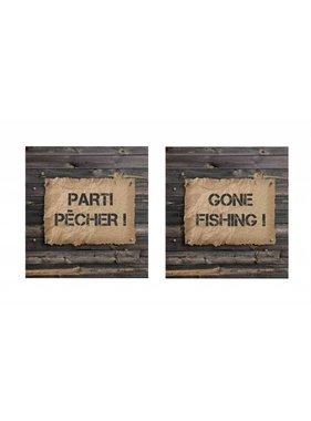 Gone Fishing metal sign