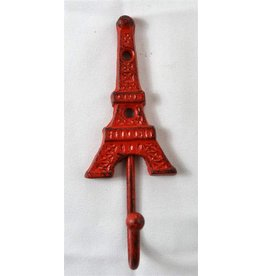 Cast iron red eiffel tower