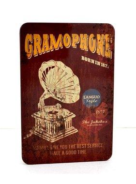 Vintage metal Gramo notebook