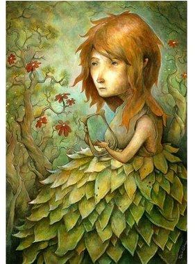 Jeune fille au lyre 13x19