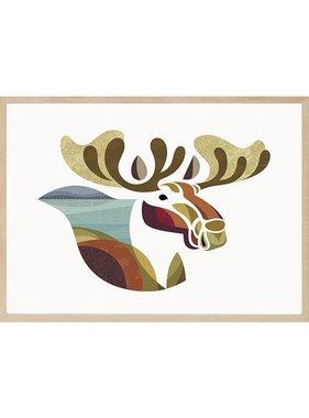 Maurice the Moose 12 x 18