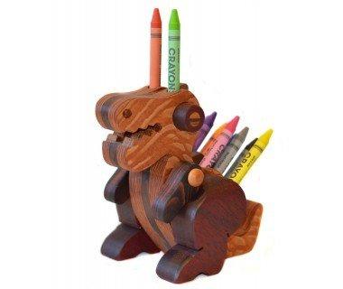 Alain Mailhot - Sculpteur Spinosaurus baby - Wax crayon holder