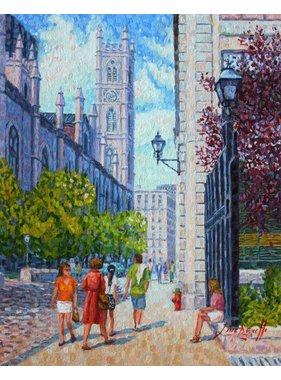 "Line Brunelle The inspiring Notre Dame Basilica 10"" x 8"""
