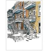 Escaliers de Montréal  L3XC 15 1/2 x 12