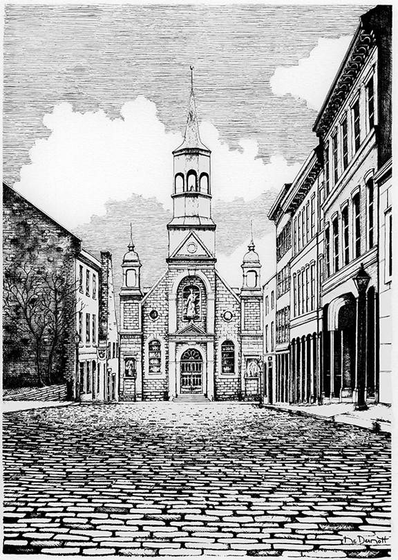 Église Bonsecours L10M 8 1/2 x 11