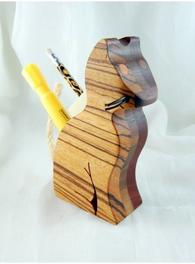 Alain Mailhot - Sculpteur Cat  - Crayons holder