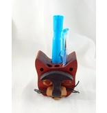 Alain Mailhot - Sculpteur Cat head - Crayon holder