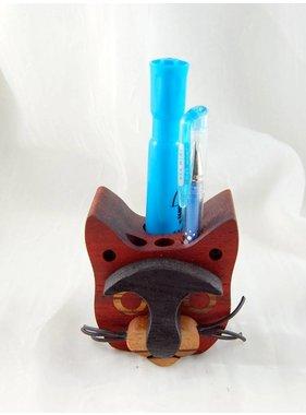 Alain Mailhot - Sculpteur Porte-crayons - Tête de chat