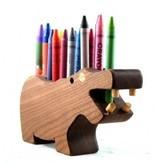 Alain Mailhot - Sculpteur Porte-crayon de cire - Hippopotame
