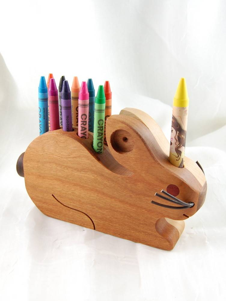 Alain Mailhot - Sculpteur Porte-crayons de cire - Lapin