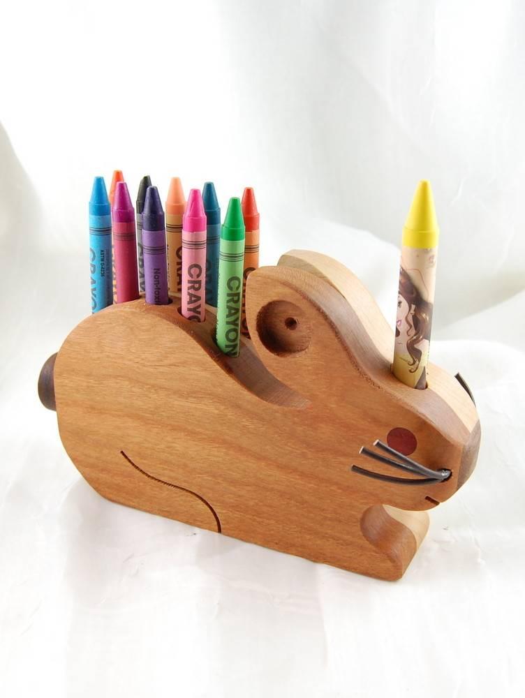 Alain Mailhot - Sculpteur Rabbit - Wax crayons holder