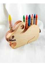 Alain Mailhot - Sculpteur Rabbit - Wax crayons holder